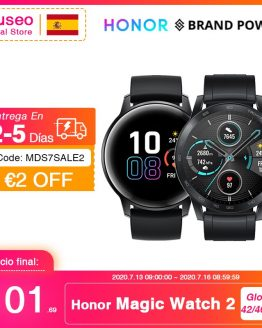 Global Version Honor Magic Watch 2 Smart Watch Bluetooth 5.1 Blood Oxygen Phone Call Smartwatch Up to14 Days 50m Waterproof