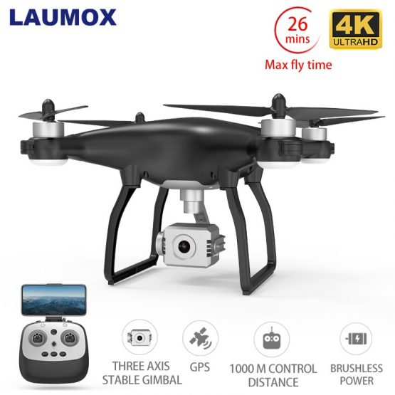 LAUMOX X35 Drone GPS WiFi 4K HD Camera Profissional RC Quadcopter Brushless Motor Drones Gimbal Stabilizer 26 minute flight