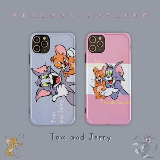 Cute Tom Jerry Frame Phone case For iPhone11 pro Xs max XR 8plus 7Plus i7 i8 TPU Back matte Cover Skinny Body Protection