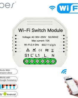 2 Way DiY WiFi Smart Light Switch Relay Module Smart Home Smart Life/Tuya APP Remote Control Work With Alexa Echo Google Home