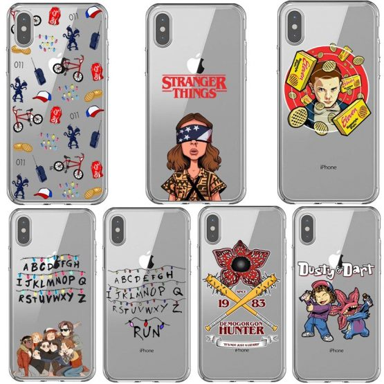 Stranger things season 3 2019 phone case for iPhone X XR XS MAX 6 7 8 plus 5 5s 6s SE 11 Pro Max clear soft Silicone black cover