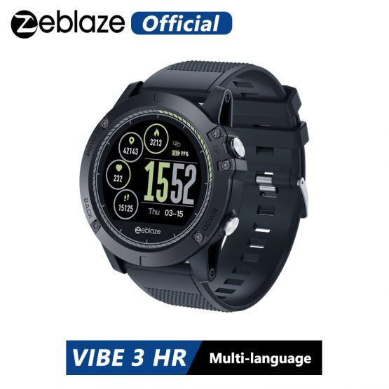 Zeblaze VIBE 3 HR IPS Color Display Sports Smartwatch Heart Rate Monitor IP67 Waterproof Smart Watch Men For IOS & Android