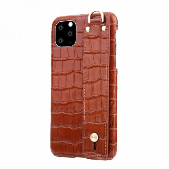 Genuine Leather Crocodile Pattern Strap Phone Case for iphone 11 Pro max X XS XR 7 8 6 6S Plus Ultra Thin Hard Cases