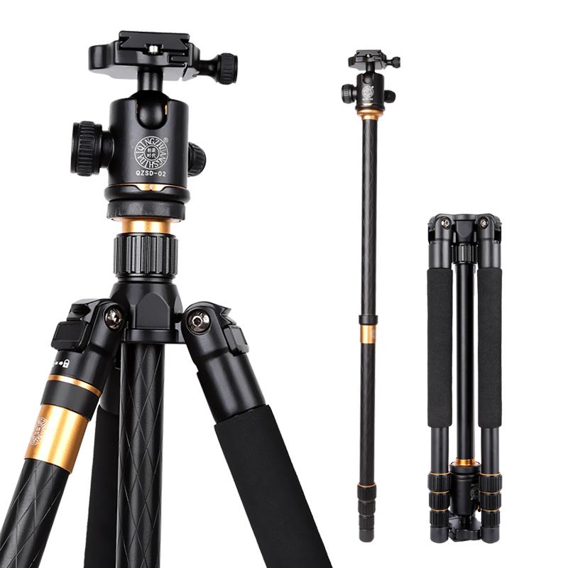 Hot Professional Photographic Portable Q999 Tripod Monopod/Ball Head For Digital DSLR Camera Max Loading 15Kg Free Shipping
