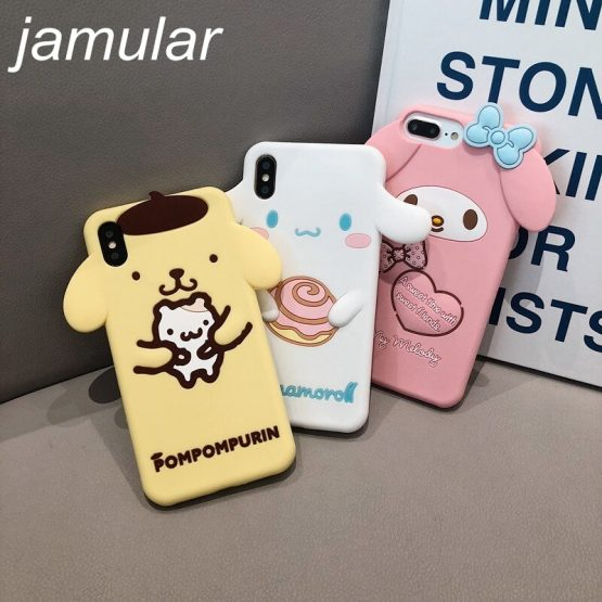 Jamular Phone Case For iPhone 11 Pro Max X XS Max XR 6 6s 7 8 plus Back Cover Fashion Cute Cartoon Soft TPU Case Lovey Capa