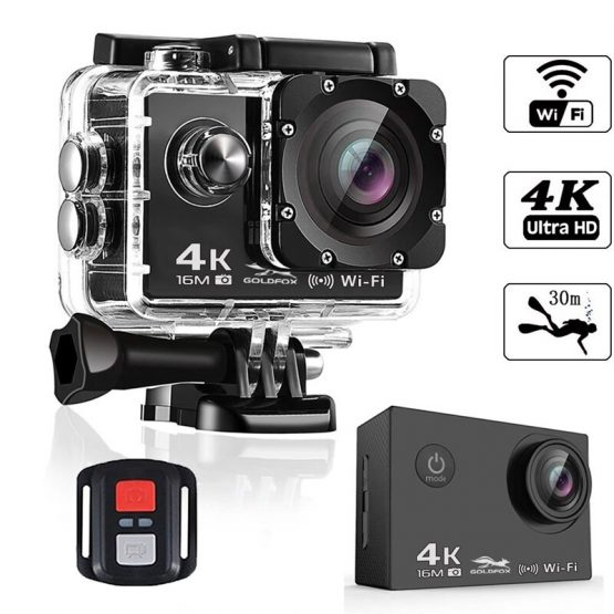 2 inch LCD Screen HD 4K Action Camera with 2.4G Remote Control WiFi Camcorders Go Waterproof pro DV Video Recorder Sport Camera