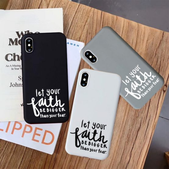 JAMULAR Faith Christian Religious Jesus Fitted Case For iPhone 11 Pro XS MAX XR X 7 8 6 11 Plus Black White Soft Phone Cover Bag
