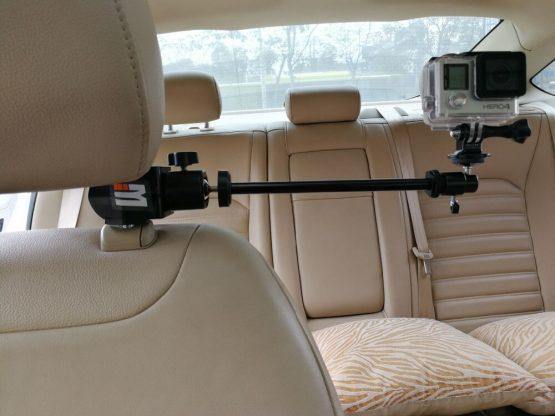 Car Headrest Clamp Mount + Tripod Adapter for GoPro Video Camera, Camcorders, DV, Smartphones SJCAM 456000 Xiaomi yi Accessories