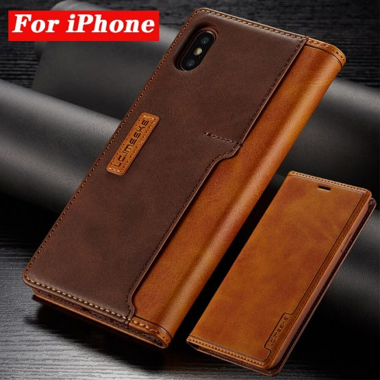 Leather Cases For Apple iPhone 11 Pro X XR XS MAX Pro MAX 8 7 6 6S Plus Contrast