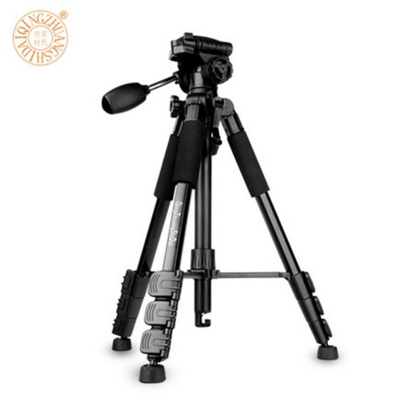 QZSD Q111 Professional Camera Tripod Aluminum alloy Photo Tripod with Q08 Rocker Arm Ball Head for Canon Nikon Sony SLR Camera