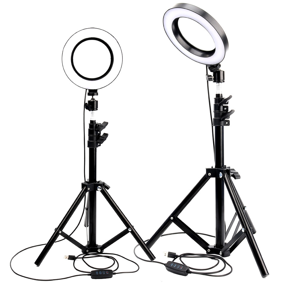 10 inch LED Selfie Ring Light With Tripod Stand Dimmable Video light For Makeup YouTube TikTok Live Photo Photography Ring Lamp