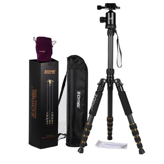 ZOMEI Z699C Professional Portable Travel Carbon fiber camera Tripod Monopod+Ball head for Digital SLR DSLR Camera