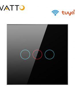 AVATTO EU WiFi light Switch with Glass Panel, Smart life App interruptor Smart Home Switch 1/2/3 Gang work for Alexa,Google Home
