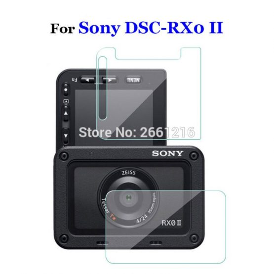 1Pcs For Sony DSC-RX0 II RX02 RX0M2 Soft Transparent Tempered Glass Back Camera Lens And LCD Screen Protector Film LX9A