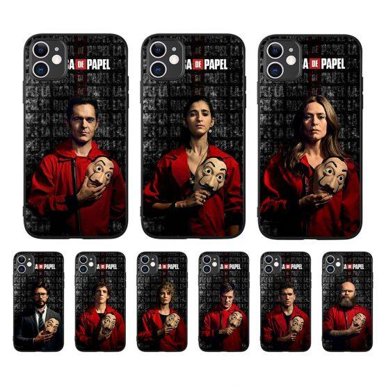 2020 Spain TV La Casa de papel Series Money Heist House Of Paper Case For iPhone 8 7 6 6S Plus XR 10 11 Pro max X XS Max 5 5S SE