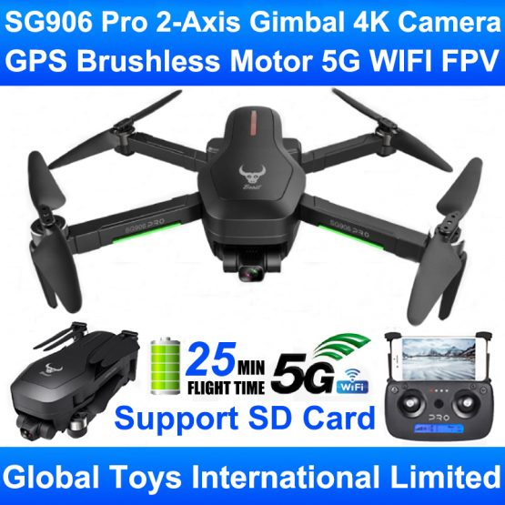 ZLRC Beast SG906 Pro Brushless Motor GPS 5G WIFI FPV 2-Axis Gimbal Professional 4K HD Camera RC Drone Quadcopter Support SD Card