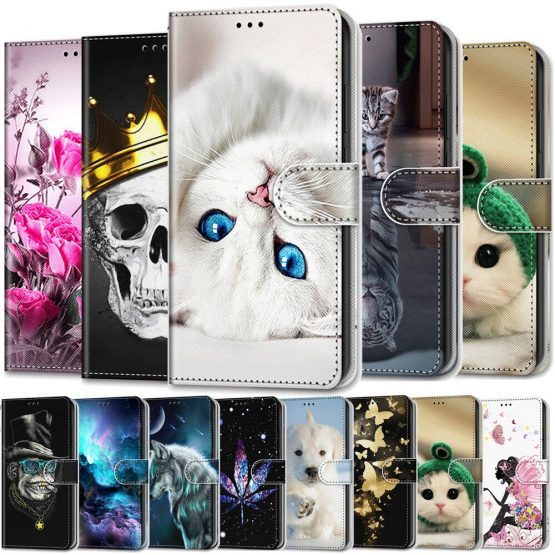 Luxury Wallet Case For Huawei P10 P30 Pro P20 Lite 2019 Case Leather Protective Magnetic Card Stand Holder Flip Cover Phone Case