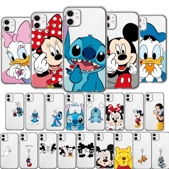 Cute Cartoon Phone Case for iPhone 11 Pro Max 6 6s 7 8 plus X Xr Xs Max SE 2 2020 Silicone Soft Cases for iPhone 7 Funny Covers