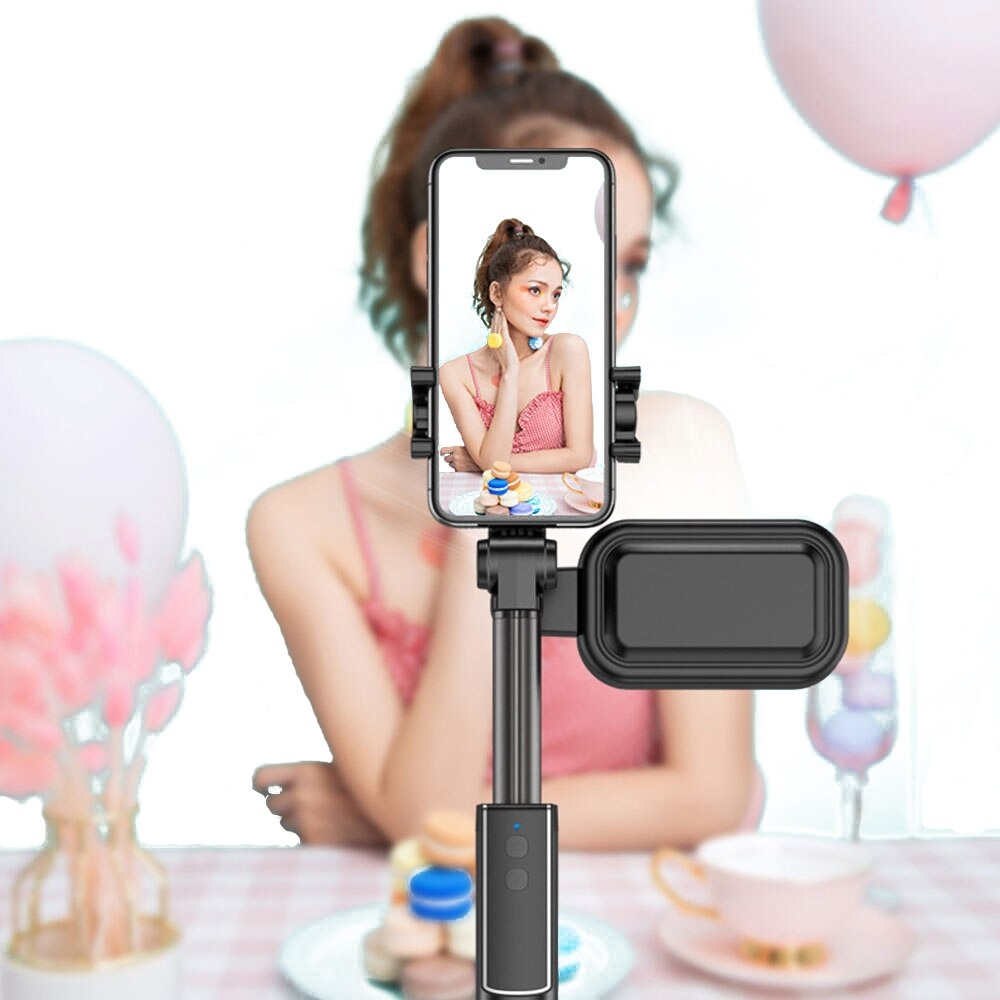 Bluetooth Tripod Selfie Stick Tiktok Mobile Phone Stabilizer Selfie Stick Tripod For Xiaomi Huawei Remote Control(No LED Light)