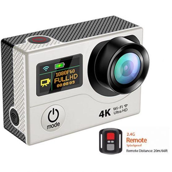 WIFI 4k 16MP Ultra HD Action Video Camera Dual Screen Remote Camcorder DV selfie Digital Video Camera 30m waterproof