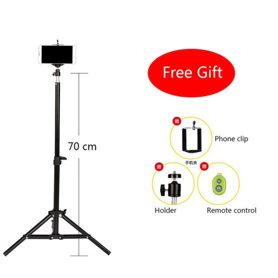 CY 1 pcs portable Camera Phone Professional universal live self-timer Mobile tripod Retractable adjustment With remote control