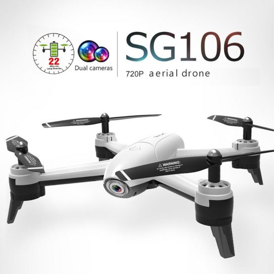 SG106 RC Drone with l 2/3 Batteries 720P/1080P/4K HD Dual Camera FPV WiFi Real Time Aerial Video Optical Flow RC Quadcopter Gift