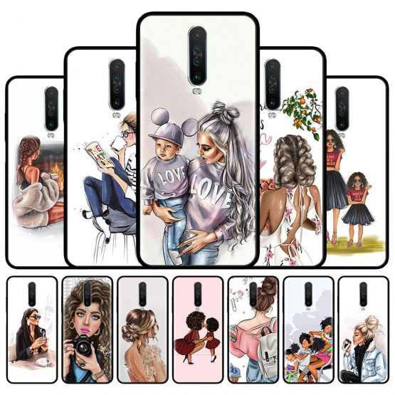 Baby Queen Girl Boss Case For Xiaomi Redmi 8 8A 7 7A 9 K20 6 6A Redmi Note 9S 9 Pro Max 7 8T 8 Pro Silicone Phone Shell Cover