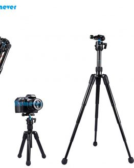 Mini Extendable professional Tripod with Adjustable ball head horizontally 360 degree mount base for DSLR Camera Canon Nikon