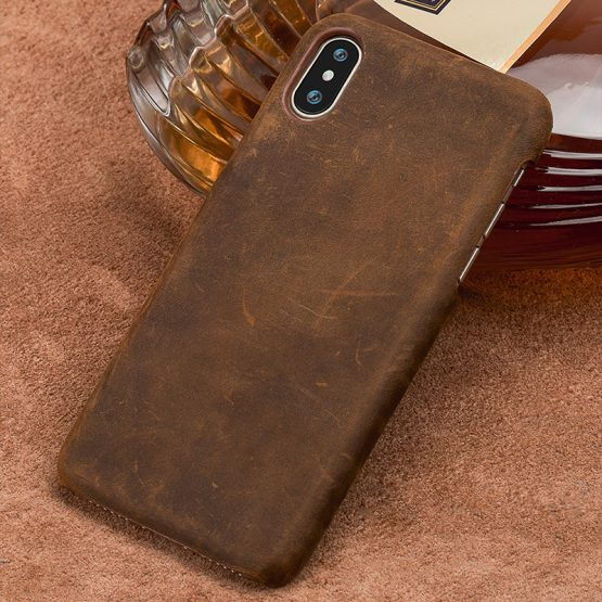 Genuine PULL-UP Leather phone case for iphone X 11 Pro Max XS XR XS MAX 8 Plus Back Cover for Apple 5 5S SE 2020 6 8 6s 7 Plus