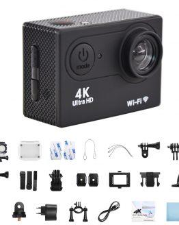 BORUiT H9 Action Camera Ultra HD 4K 30fps WiFi Underwater 30M Waterproof Helmet Video Recording Cameras Sport Cam