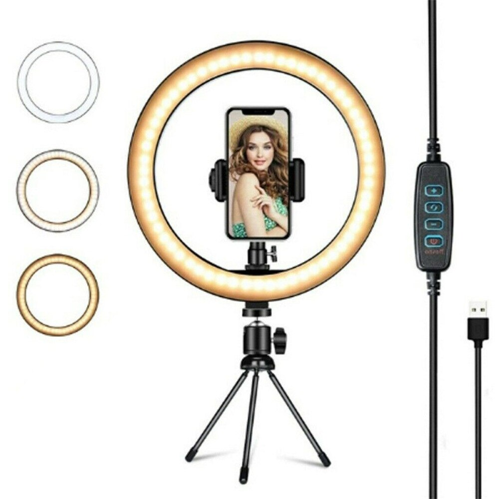 """10"""" Phone Selfie table Tripod 26CM Selfie LED Ring Light with Stand For Youtube Tiktok Makeup Video Live photography lighting"""
