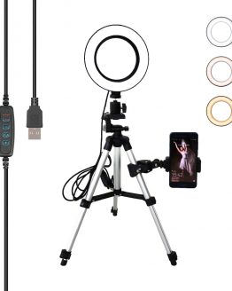 16CM Led Selfie Ring Light Phone Tripod Holder Bluetooth Remote Lamp Photo Ringlight Photography Lighting TikTok Youtube Live
