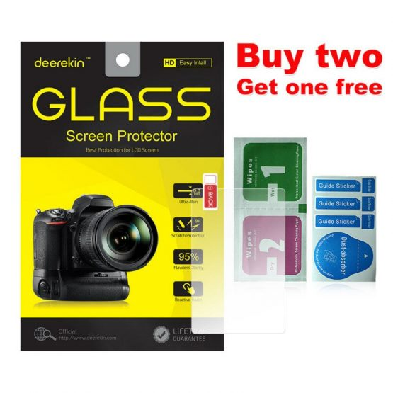 Deerekin 9H Tempered Glass LCD Screen Protector for Canon EOS M200 M100 100D 200D 250D / Rebel SL1 SL2 SL3 / Kiss X7 X8 X9 X10