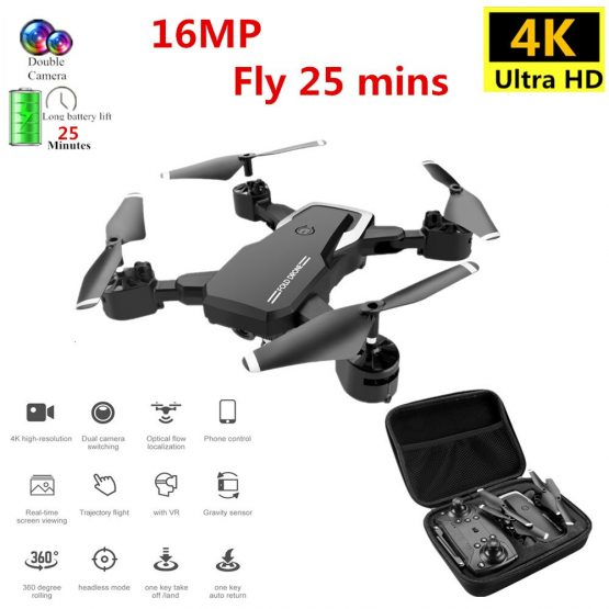 Profession Drone 4K with HD Camera WIFI 1080P Camera Follow Me Quadcopter FPV Professional Drone Long Battery Life Toy For Kids