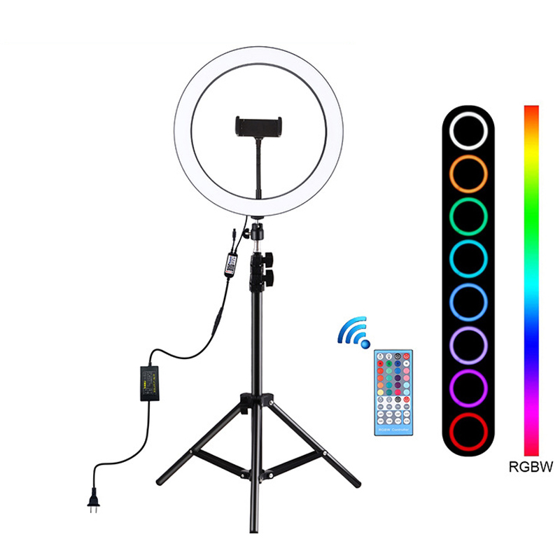12 inch Photography Lighting 6500K LED Selfie Ring Light RGB Video Ring Light With tripod for Vlog TikTok Youtube Live Streaming