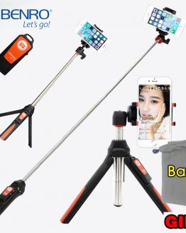 BENRO MK10 Handheld mini Tripod for Phone 3 in 1 Self-portrait Monopod Selfie Stick with Bluetooth Remote Shutter for smartphone