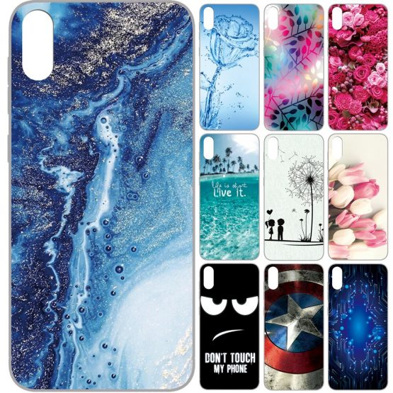 GUCOON Silicone Cover for Cubot J5 5.5inch Case Soft TPU Protective Phone Back Case Cartoon Wolf Rose Flowers Bumper Shell