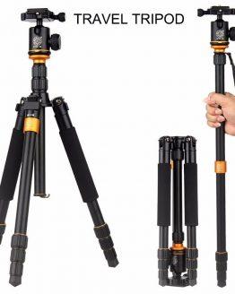 Upgrade QZSD Q999S Professional Photography Portable Aluminum Ball Head+Tripod To Monopod For Canon Nikon Sony DSLR Camera Stand