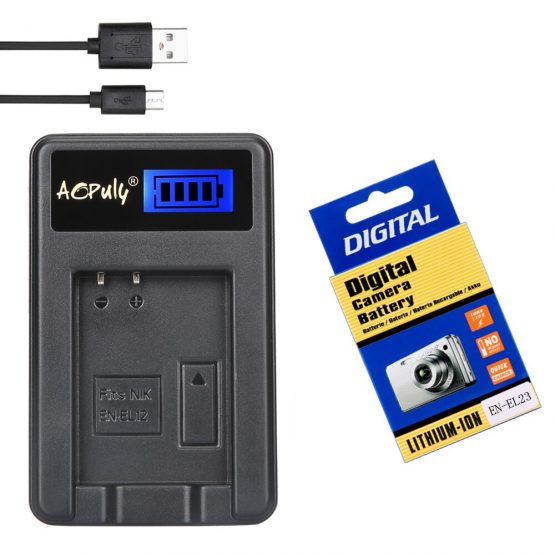 EN-EL23 EN EL23 Camera Battery LCD USB Charger for Nikon COOLPIX P600 B700 S810c P900 P610 Camera