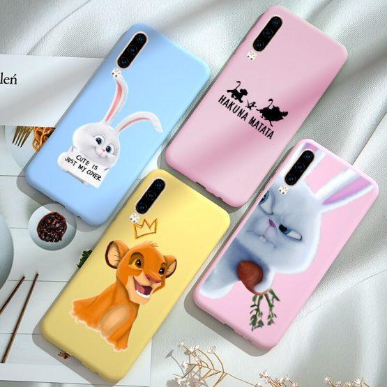 Cartoon Phone Cover FOR Huawei P30 PRO P20 Lite P10 P9 P40 E P Smart Plus Z Case Mate 10 Lite 20 Nova 5T Y5 2018 Y6 Prime 2019