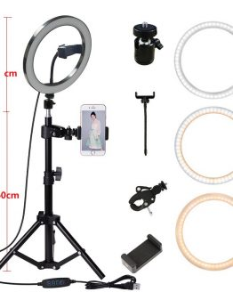 160CM Tripod Stand Photography Lighting Camera Photo Studio Circle Led Selfie 26cm Ring Light Phone Lamp Video TikTok Youtube