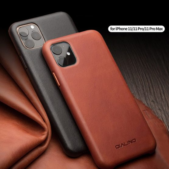 For Apple iphone 11 Pro Max Luxury retro Genuine Leather metal buttons Fhx-22r case For iPhone 7 8 Plus X XR XS MAX phone case