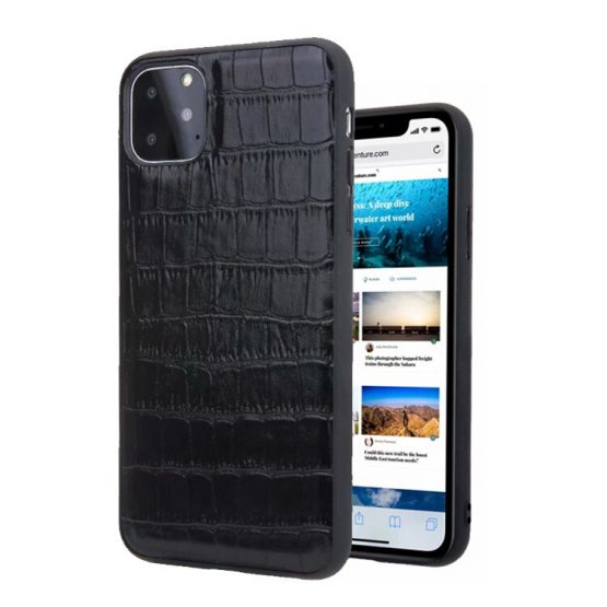 Genuine leather crocodile pattern case for iphone 11 Pro Max anti fall protector coque back cover case for iphone Xs Max,CKHB-TP