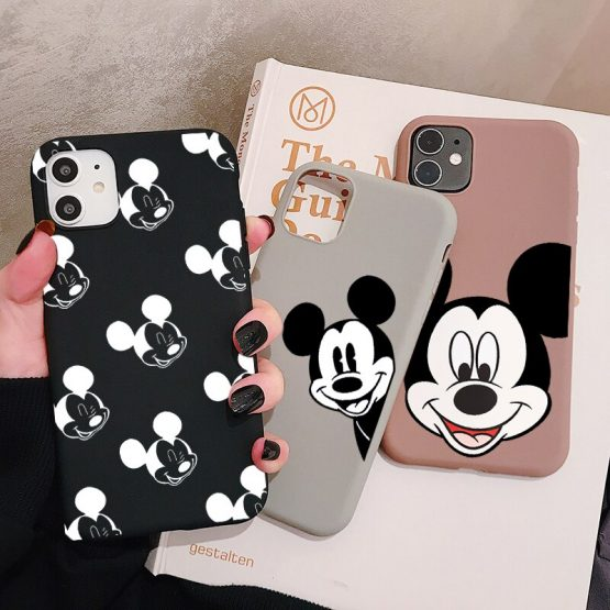 Cartoon Mouse Phone Case For Samsung Galaxy S20 S10 S9 S8 Plus Lite Ultra S10e Frosted Silicone Cases Soft Cover
