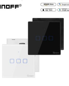 Sonoff TX T2/T3 EU/US Smart WiFi RF 433/ APP / Touch Control Wall Light Switch 1 /2 /3 Gang Type Wall Touch Switch Smart Home