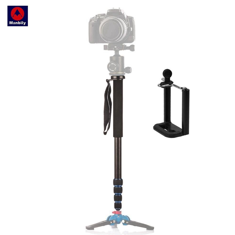 Manbily A-222 Portable Professional DSLR Camera Travel Monopod Tripod Stand Video Monopod 165cm for Canon Nikon Sony DV Phone