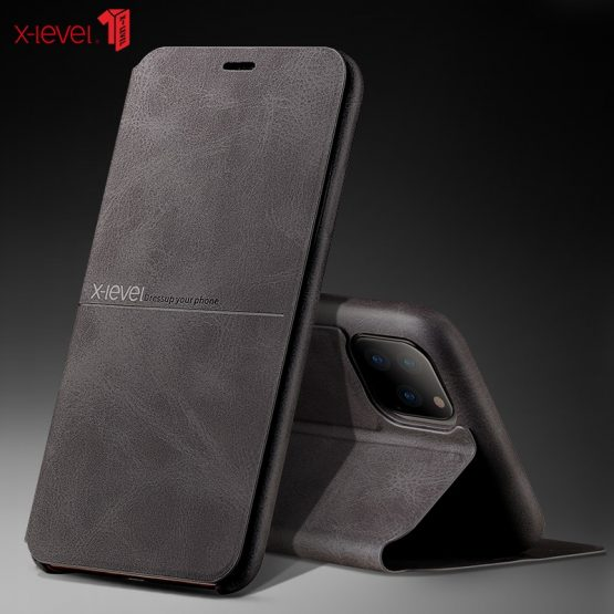 X-Level Premium Leather Cases For New iPhone 11 Pro XS Max XR X 8 8 6 6S 7 Plus Full Protective Bussiness Cover Case
