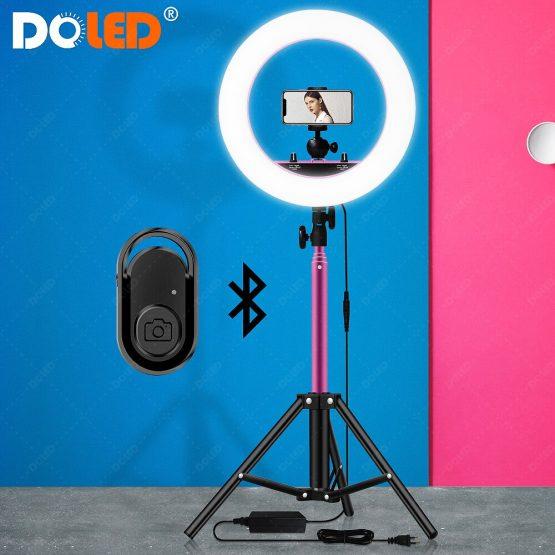 LED Ring Lamps Selfie Light with Tripod Phone Holder For Photography Lighting on Makeup Vlog Tiktok YouTube Video Photo Liveshow