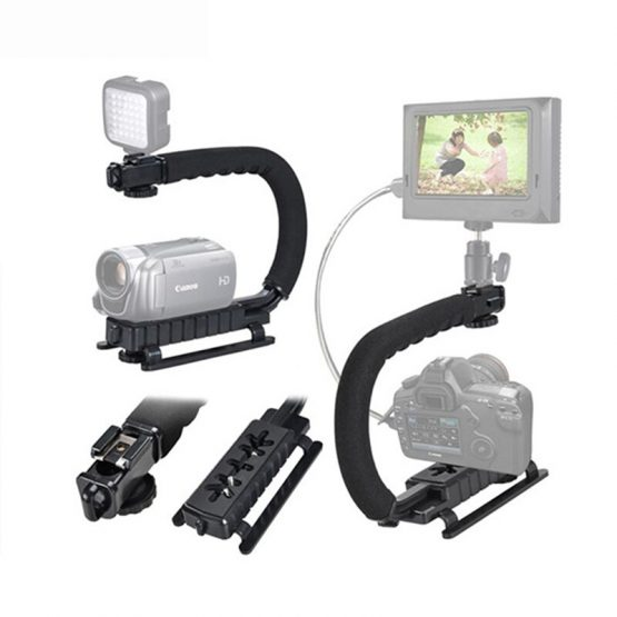 DV Hand Held C-Shaped Shooting Video Stabilizer Hand-held Low Frame Flash Stands Stabilizer