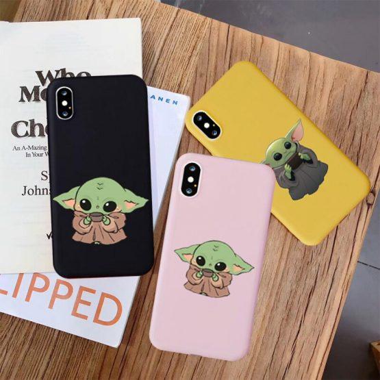 GYKZ Cartoon Baby Yoda Meme Silicone Phone Case For iPhone XS MAX 11 Pro X XR 6s 7 8 Plus Mandalorian Soft Back Cover Shell Capa
